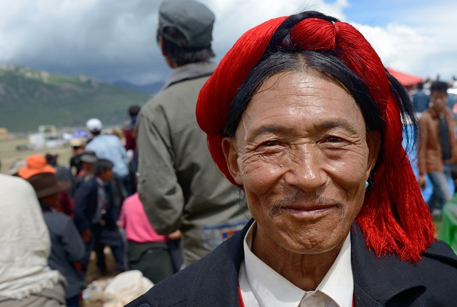 "Nomad usually wear ""Tapshu"", Tibet 2014"
