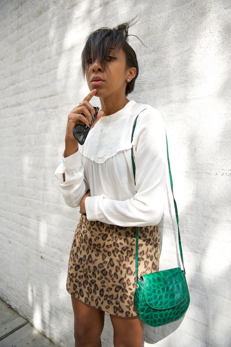 topshop leopard print skirt