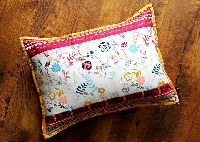 Embroidered Luminous Field Pillow