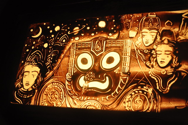sand animation video on theme Brahma Paribartan by Manas Kumar Sahoo Nabakalebara