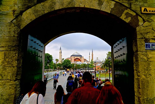 View of the Hagia Sophia from the Blue Mosque