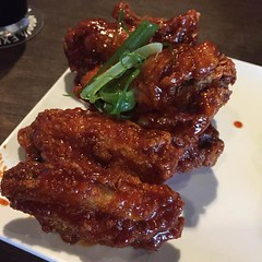 Korean fried chicken wings en San Antonio. The hoppy monk.