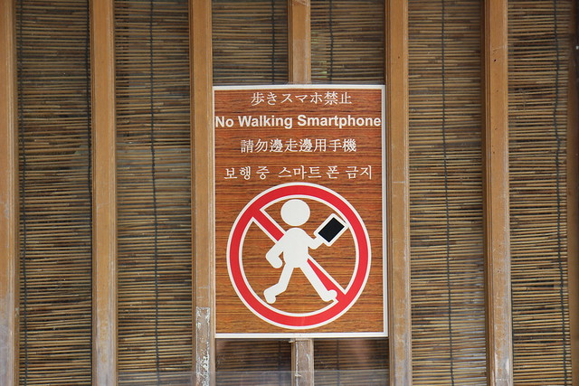 No Walking Smartphone!