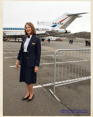 Former United Airlines Flight Attendant & 727 in Kodachrome II