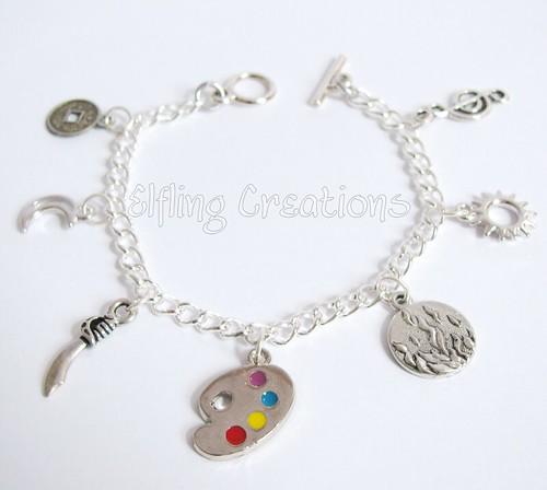 Writing Charm Bracelet