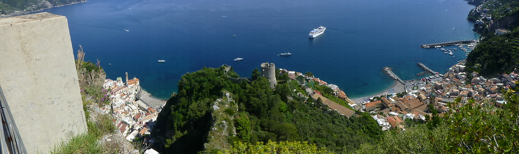 Atrani on the left, Amalfi on the right