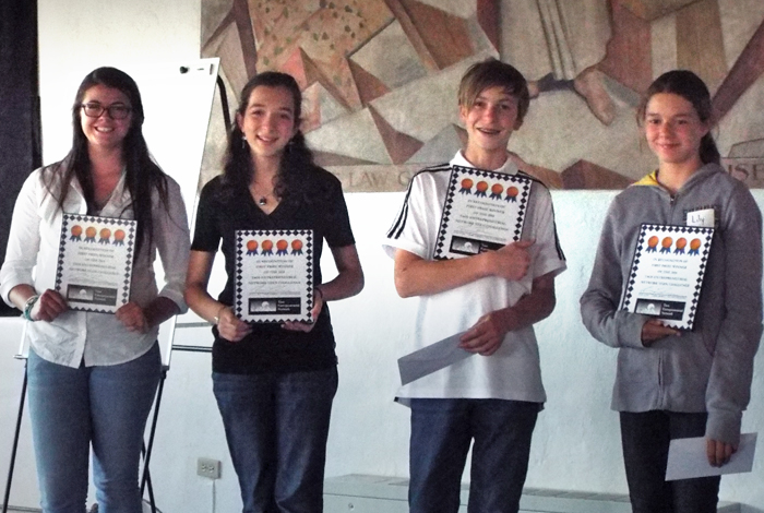 Teen Challenge winners, (l to r) Dakota Waterson, Lucie Goodhart, Ezra Tredwin and Lily Sanborn.