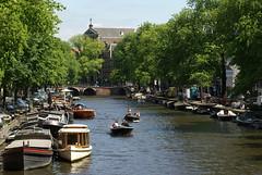Twee bootjes op de Prinsengracht