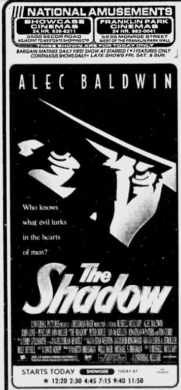 Shadow newspaper ad