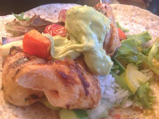 Chipotle Chilli Chicken : Wrap Close Up