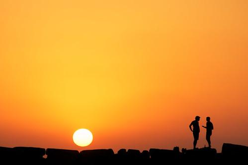 sunset silhouette port israel telaviv sony jaffa jaffaport minolta70210mm sonya77