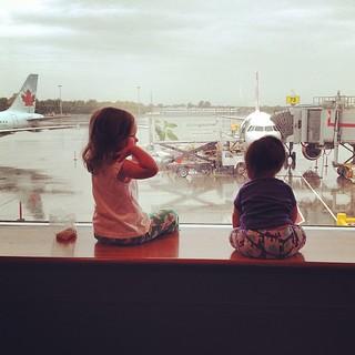 Little jet setters. #ontheroadagain #floridabound