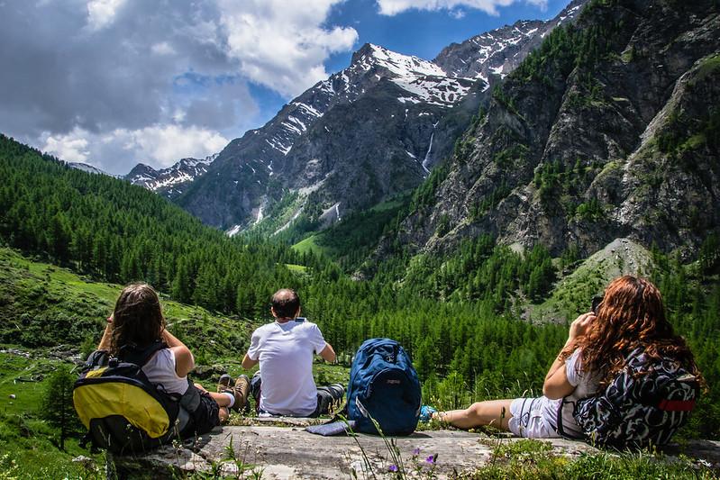 pranzo con vista in Val troncea, spettacolo natura