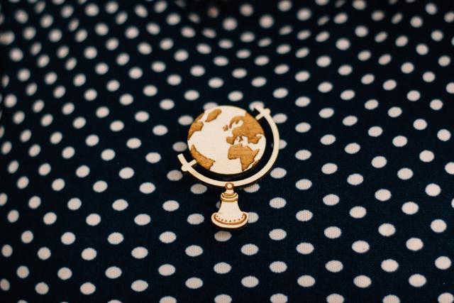 globe brooch