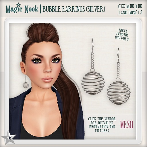 [MAGIC NOOK] Bubble Earrings (Silver) MESH