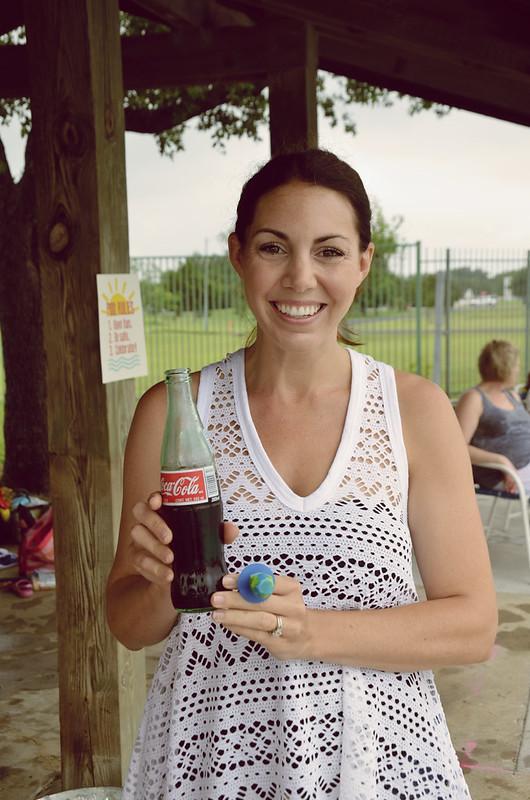 aly modeling a coke