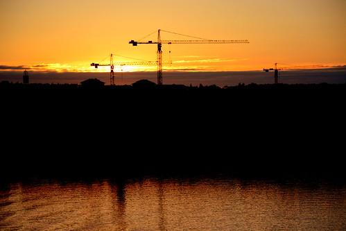 sunrise finland nikon cranes åland d7100