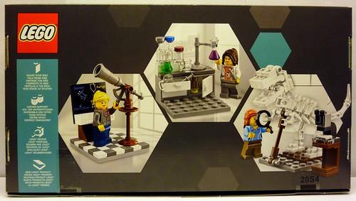 LEGO Ideas Research Institute 21110 Box Back