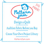 PatternJam ruler sticker