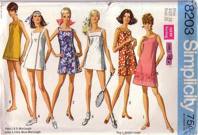 Simplicity 8203 Dress Pattern (1969)