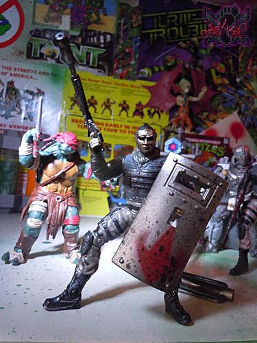 """NINJA TURTLES"" Movie :: FOOT SOLDIER  { tOKKustom PARAMILITARY wash } x // ..Foot Tactical Shield (( 2014 ))"