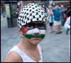 Palestinian child, Gaza solidarity demo, Montreal 23 july 2014
