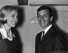 Germaine Dugas et Claude Palmieri à la boîte à chanson «Sous les étoiles», 6 juillet 1965, VM94-S52-015