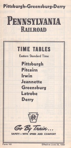 PRR 1950 Pittsburgh Derry Cover