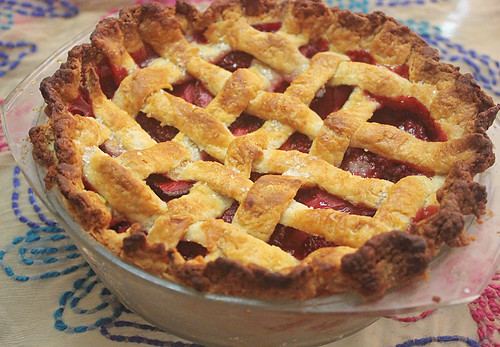 Strawberry Lattice Pie 5