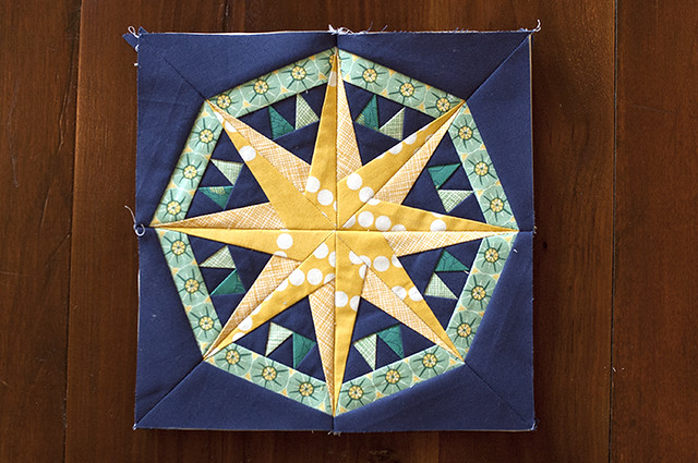 mariner's compass quilt block