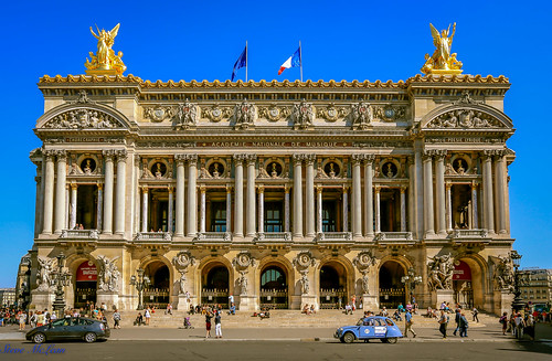The Palais Garnier (Opera Garnier), Boulevard des Capucines in the 9th arrondissement Paris France
