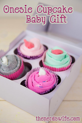Onesie Cupcake Baby Gift