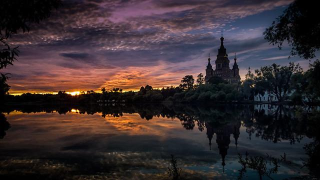 Peterhof sunset