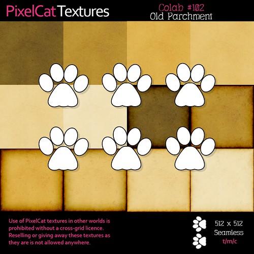PixelCat Textures - Colab 102 - Old Parchment