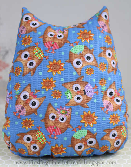 stuffed owl_back