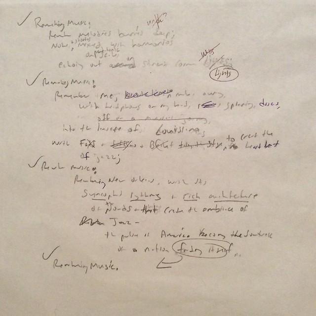 Draft Remembering Music