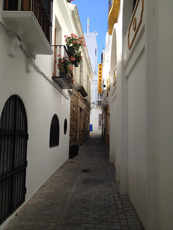 Narrow streets provide much needed shade