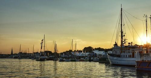 sunset seascape water river germany deutschland boat lübeck travemünde trave 2014 nikond5300 paddybb