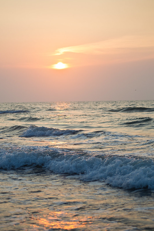Waves at Sunrise on Padre Island National Seashore