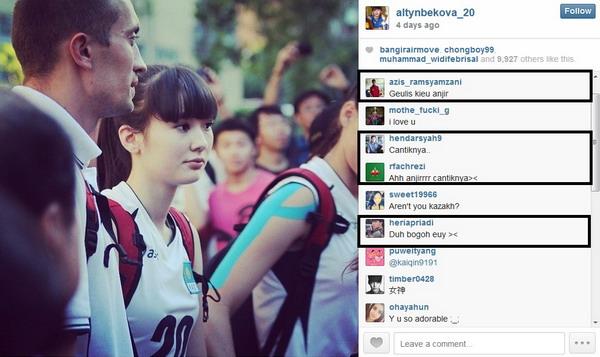 Sabina Altynbekova Pemain Voli Cantik Makin Terkenal di Instagram