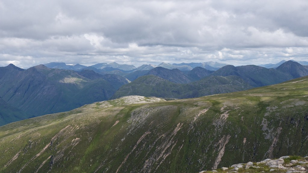 The Mamores and Nevis from Glas Bheinn Mhor