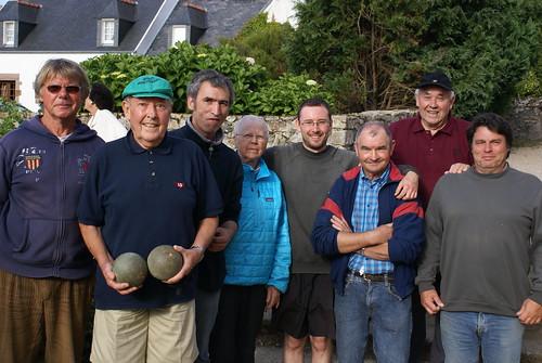 17/08/2014 - Saint Jean du Doigt : Les finalistes du championnat du monde de boules plombées en triplettes formées