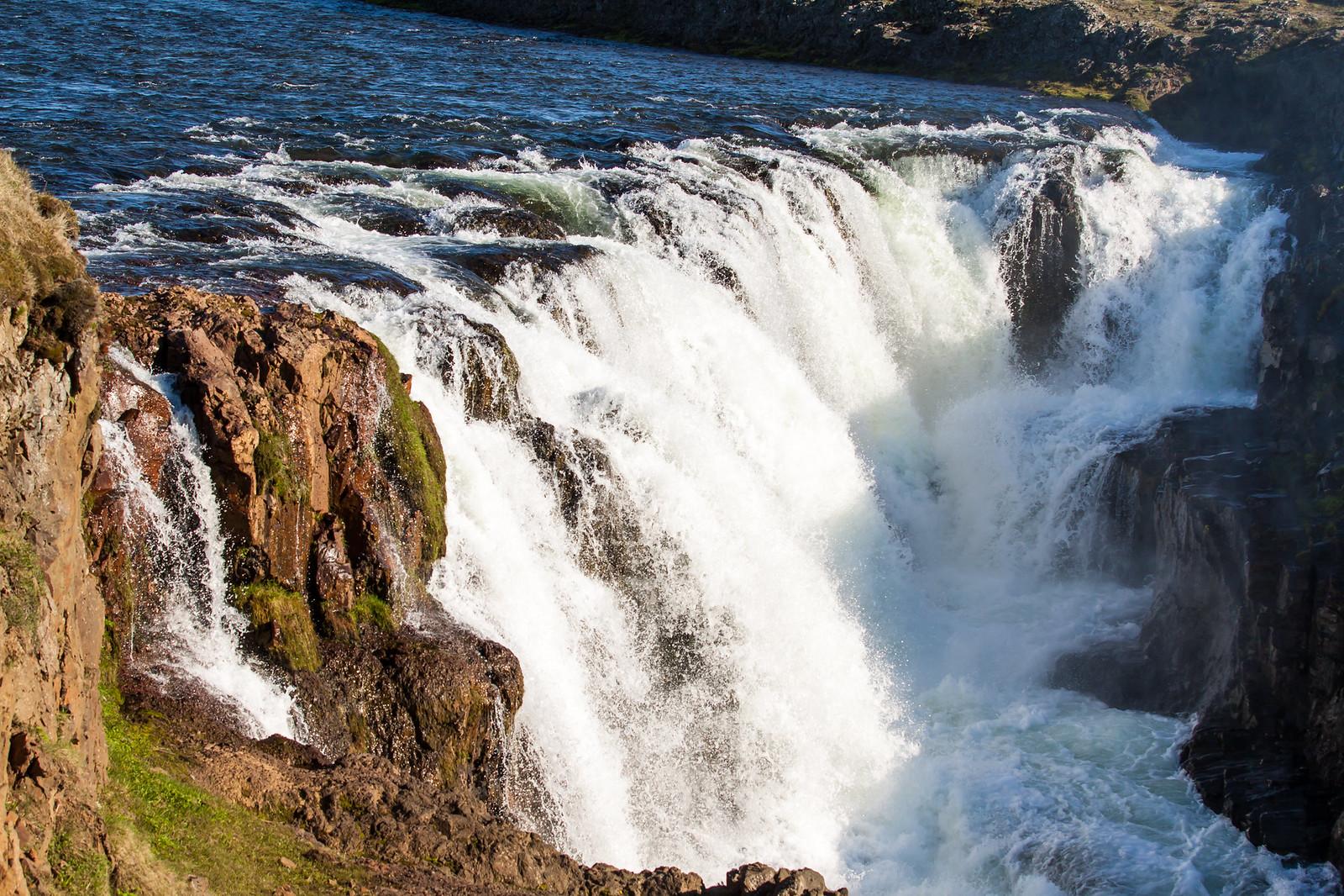 Iceland waterfall Kolugljufur