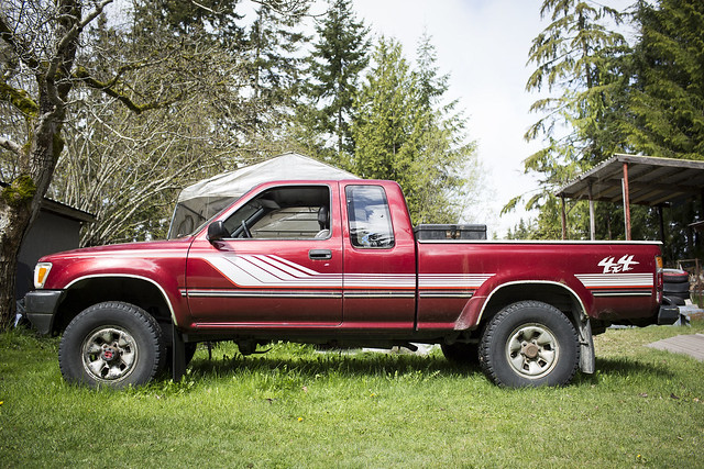 Desk To Glory 1990 Toyota Pickup complete with 330,000km