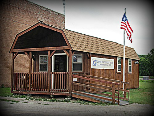 Post office in a storage building