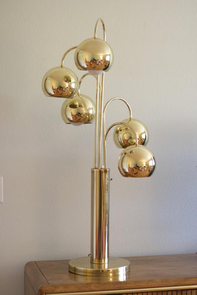 brass lamp retro