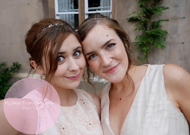 wedding day bridesmaids bride and groom