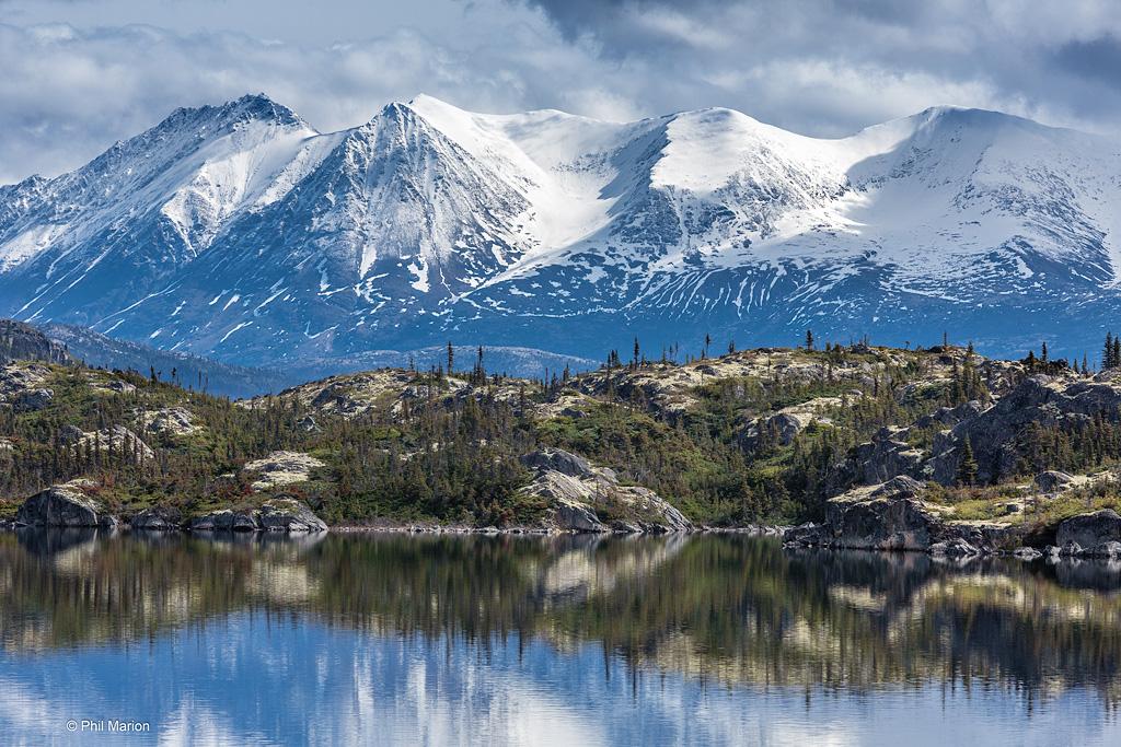 Landscape on White Pass & Yukon Route Railroad - near Alaska/Yukon border