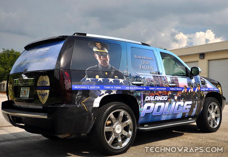 Police car wrap