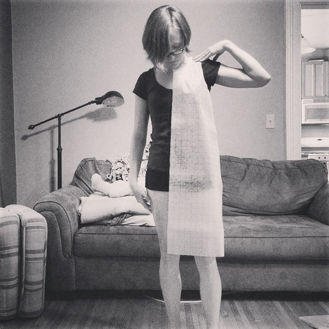 I finally traced and cut the pattern for my 100 acts of sewing dress(es)! I cut size XS except I cut it the length of the biggest size (can always trim it shorter but I like my dresses on the longer side).